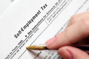 Self-employment tax form/iStockPhoto